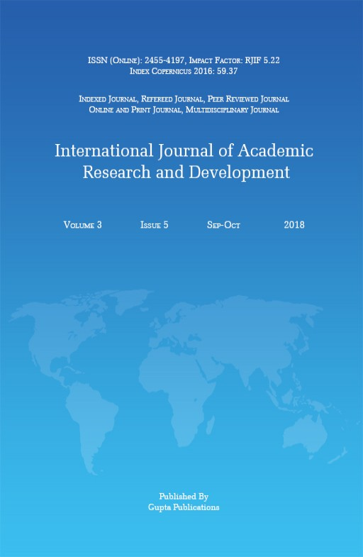 International Journal of Academic Research and Development