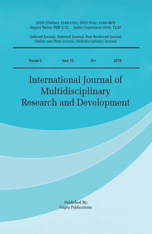 International Journal of Multidisciplinary Research and Development