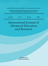 International Journal of Advanced Education and Research
