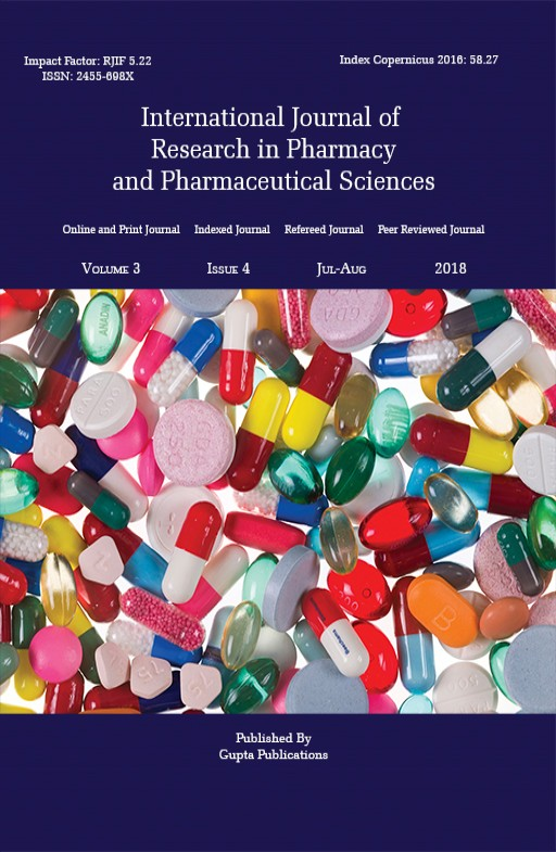 International Journal of Research in Pharmacy and Pharmaceutical Sciences